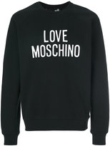 Love Moschino logo print sweatshirt - men - Cotton/Spandex/Elastane - S