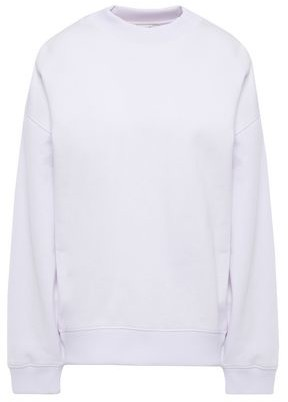 Acne Studios Oversized Embellished Printed Cotton-blend Fleece Sweatshirt