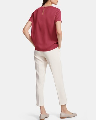 Theory Woven Tee in Stretch Silk