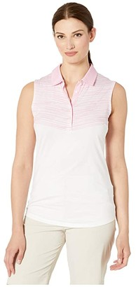 Puma Chevron Sleeveless Polo (Pale Pink) Women's Clothing