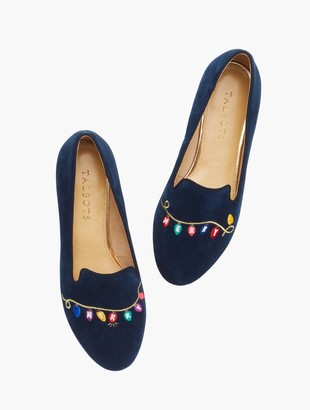 Talbots Ryan Embroidered Holiday Lights Loafers