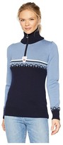 Dale of Norway Lahti Sweater (D-Navy/Blue Shadow/Off-White) Women's Sweater