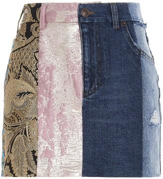 Dolce & Gabbana Patchwork Mini Skirt