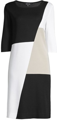 Misook Petite Colorblock Sheath Dress