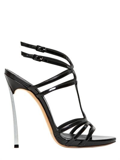 Casadei 120mm Glossy Patent Blade Heel Sandals