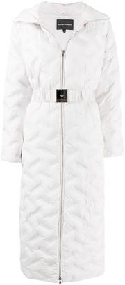Emporio Armani Quilted Long-Length Coat