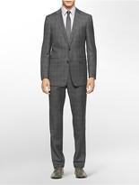 Calvin Klein X Fit Ultra Slim Fit Grey Plaid Suit