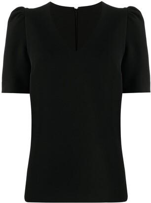 P.A.R.O.S.H. rounded-shoulder V-neck top