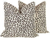One Kings Lane Vintage Black and Grey Leopard Pillows - Set of 2 - Ivy and Vine