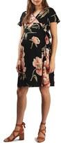 Topshop Women's Floral Print Wrap Maternity Dress