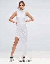 Club L Plisse Maxi Dress with High Neck