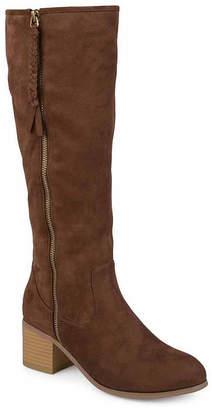 Journee Collection Womens Sanora Wide Calf Dress Boots Block Heel