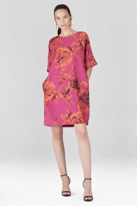 Natori Tie-Dye Floral - Crepe T-Shirt Dress