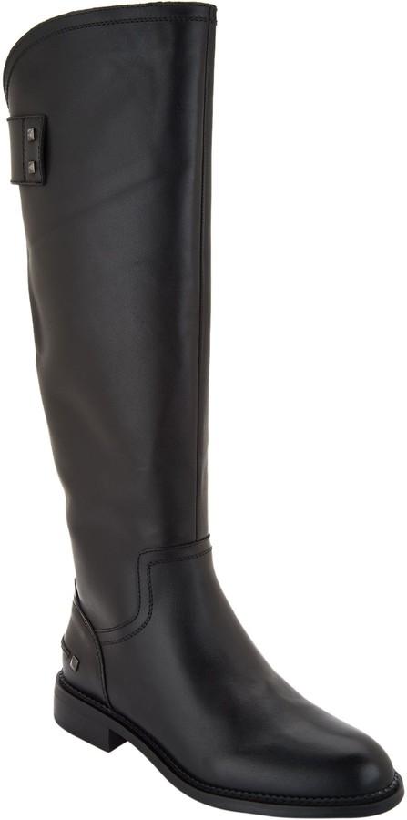 c5fcc6f6106 Leather Wide Calf Tall Boots - Henrietta