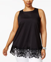 Alfani Plus Size Lace-Hem Tunic, Created for Macy's