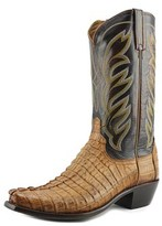 Lucchese Landon Men Round Toe Leather Brown Western Boot.