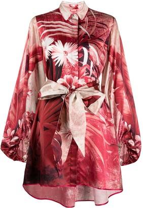 F.R.S For Restless Sleepers Silk-Blend Shirt Dress