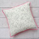 Caden Lane Lacey Rose Square Throw Pillow