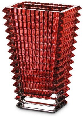 Baccarat Eye Small Rectangular Red Vase