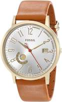 Fossil Women's ES3750 Vintage Muse Gold-Tone Stainless Steel Watch with Leather Band