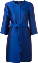 P.A.R.O.S.H. collarless midi coat - women - Silk/Polyester - XS
