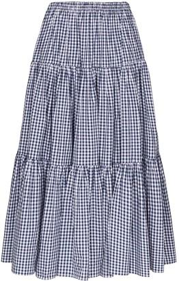 Batsheva Amy gingham flared skirt