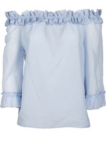 Blumarine Ruffled Off-the-shoulder Blouse