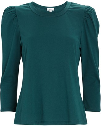 A.L.C. Karlie Puff Sleeve Cotton T-Shirt