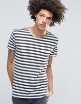 Cheap Monday Standard Stripe T-Shirt Pocket White