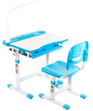 Vivo Height Adjustable Children's Art Desk and Chair Color: Blue