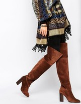 MANGO Suede Over The Knee Boot