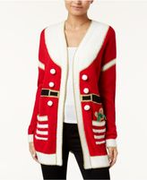 Hooked Up by IOT Juniors' Holiday Printed Cardigan