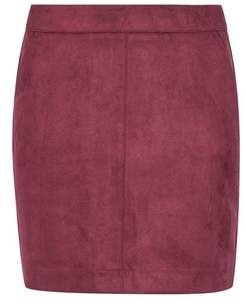 Dorothy Perkins Womens **Vero Moda Red Faux Suede Skirt, Red