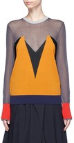Enfold Sheer colourblock sweater