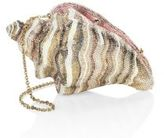 Judith Leiber Conch Shell Crystal Clutch