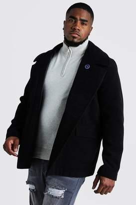 Big & Tall Classic Wool Look Pea Coat