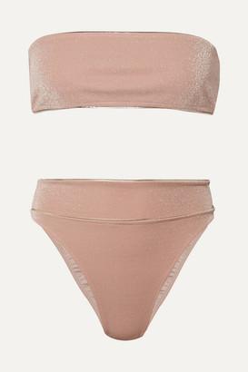 Adriana Degreas Martini Metallic Bandeau Bikini - Pink