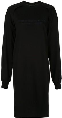 Juun.J Sweatshirt Midi Dress