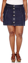 Arizona Button-Front Skirt - Juniors Plus