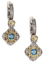 Konstantino Hermione London Blue Topaz, 18K Yellow Gold & Sterling Silver Drop Earrings