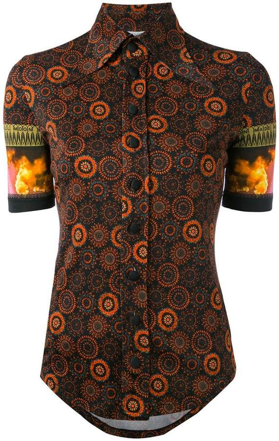 Givenchy printed butterfly collar top