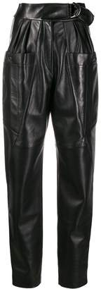 Isabel Marant high-waisted leather trousers