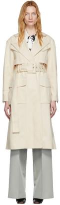 Proenza Schouler Off-White Canvas Denim Trench Coat