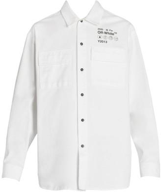 Off-White Gabardine Utility Shirt