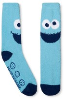 Sesame Street Cookie Monster Slipper Socks - Blue One Size Fits Most