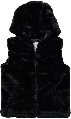 Urban Republic Faux Fur Hooded Vest (Big Girls)