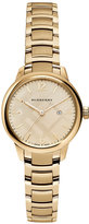 Burberry Women's Swiss Gold-Tone Stainless Steel Bracelet Watch 32mm BU10109