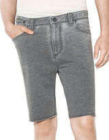 John Varvatos Star U.S.A. Lightweight French Terry Knit Shorts with Raw Cut Hem