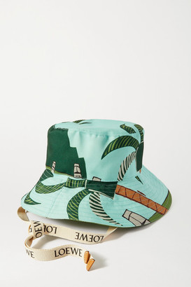 Loewe Ken Price Easter Island Leather-trimmed Printed Canvas Bucket Hat