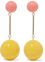 J.W.Anderson Gold-tone Resin Earrings - Yellow